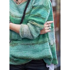 Tie Dye Okrągły dekolt Casual Swetry