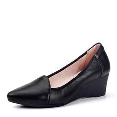 Naisten Aitoa nahkaa Wedge heel Suljettu toe Kiilat kengät