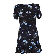 Nadrukowana/Kwiatowy Krótkie rękawy W kształcie litery A Nad kolana Casual/Przyjęcie/Boho/Wakacyjna Sukienki