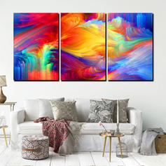 Modern Horizontal Abstract Paintings Set of 3