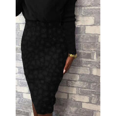 Leopard V-Neck Casual Long Tight Sweater Dress