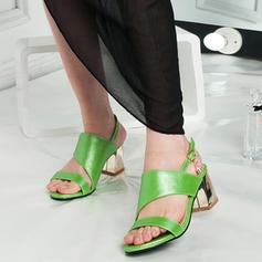Femmes Similicuir Talon bottier Sandales À bout ouvert Escarpins avec Autres chaussures