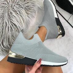 De mujer Tejido volador Tacón plano Planos Zapatillas con Agujereado zapatos