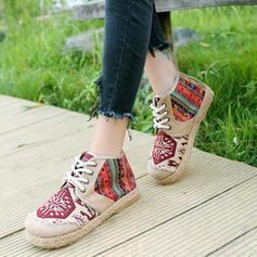 Femmes PU Talon plat Chaussures plates avec Dentelle chaussures