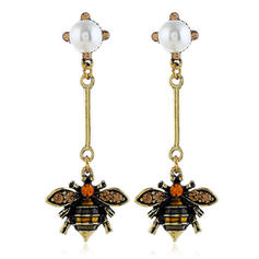 Bee Shaped Alloy Rhinestones With Rhinestone Women's Fashion Earrings (Set of 2)