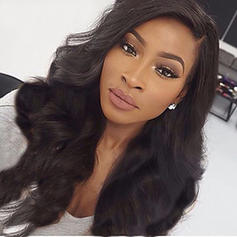 5A Virgin/remy Wavy Human Hair Full Lace Cap Wigs (Sold in a single piece)