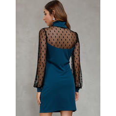 PolkaDot Long Sleeves Bodycon Above Knee Casual/Elegant Dresses