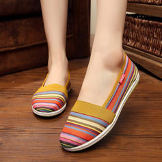 Femmes Toile Talon plat Chaussures plates chaussures