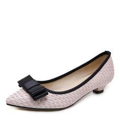 Women's Leatherette Low Heel Pumps Closed Toe shoes