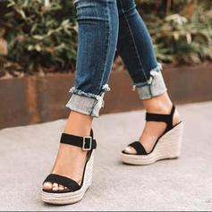 Naisten PU Wedge heel Sandaalit Avokkaat Peep toe jossa Solki kengät