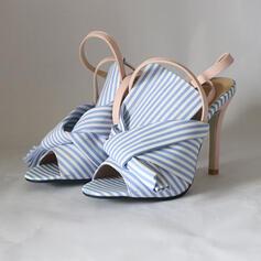 Női Szövet Tűsarok Szandál Peep Toe -Val Csat cipő