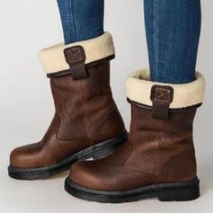 Donna PU Senza tacco Stivali con Fibbia scarpe