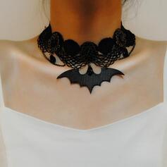 Bat Shaped Halloween gotyk Stop Koronka Naszyjniki