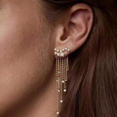 Hermoso Aleación Diamantes de imitación con Rhinestone De mujer Pendientes de la manera (Sold in a single piece)