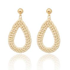 Shining Basketwork Women's Fashion Earrings