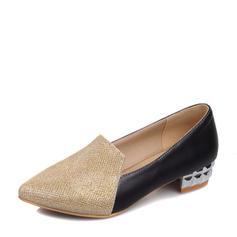 Femmes Pailletes scintillantes PU Talon bottier Chaussures plates chaussures