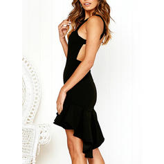 Solid Sleeveless Sheath Above Knee Little Black/Sexy/Party Dresses