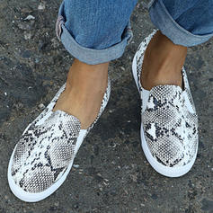 Mulheres PU Casual Outdoor com Animal da Cópia sapatos