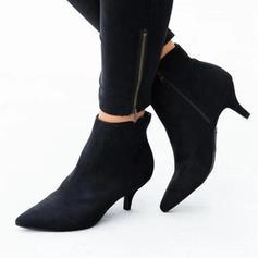 Vrouwen Suede Kitten Hak Pumps met Dier Afdrukken schoenen