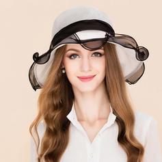 Ladies ' Elegancki Jedwab Z Kokarda Floppy Hat