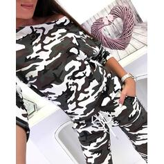 Hooded Long Sleeves Leopard Sexy Pajamas Sets