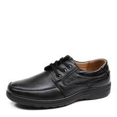 Cordones U-Tip Casual Trabajo Piel Hombres Zapatos Oxford de caballero