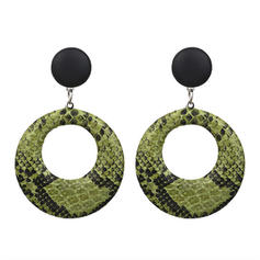 Simple Alloy Leatherette Women's Earrings