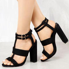 Women's PU Chunky Heel Sandals Pumps Peep Toe With Others shoes