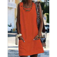 Sequins Sleeveless Shift Above Knee Casual/Vacation Dresses