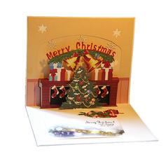 Feliz Navidad 3D Con sobre Papel Para Tarjetas Tarjetas de felicitación Postales Invitaciones