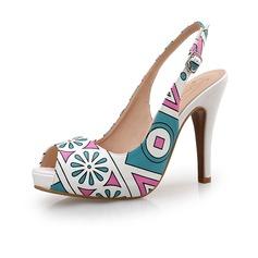 De mujer Cuero Tacón stilettos Salón Encaje zapatos
