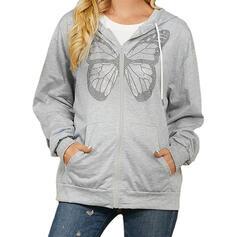 butterfly Bluza z kapturem Długie rękawy Bluza z kapturem