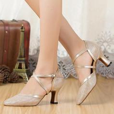 Women's Ballroom Sandals Sparkling Glitter With Ankle Strap Modern