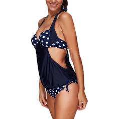 Dot Halter Sexy Plus Size One-piece Swimsuits
