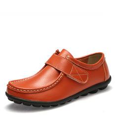 Femmes Similicuir Talon plat Chaussures plates Bout fermé avec Velcro chaussures