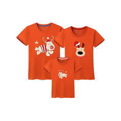 Deer Print Family Matching T-Shirts