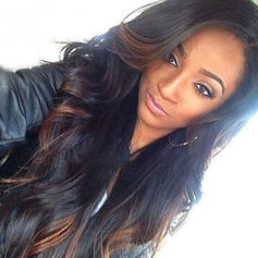 4A Non remy Wavy Human Hair Lace Front Wigs (Sold in a single piece)