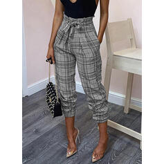 Plaid Bowknot Long Elegant Sexy Pants