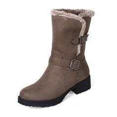 Femmes Similicuir Talon bottier Bottes Bottes mi-mollets chaussures