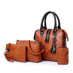 Classical/Vintga PU Shoulder Bags/Boston Bags/Bag Sets/Wallets & Wristlets