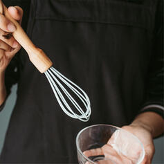 Classical Wooden Silicone Whisk