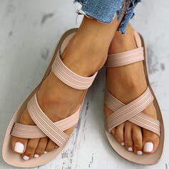 Mulheres PVC Sem salto Sandálias Peep toe sapatos