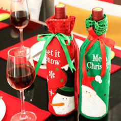 Boże Narodzenie Torba Na Wino Tkanina Dekoracje świąteczne