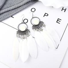 Stilvoll Jahrgang Legierung Feder Frauen Ohrringe