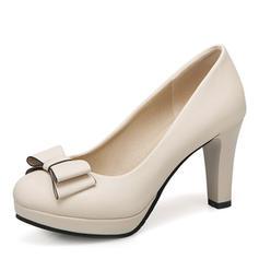 Femmes Similicuir Talon bottier Plateforme avec Bowknot chaussures