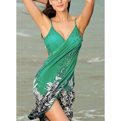 Floral String Strap Elegant Cover-ups Swimsuits
