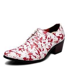 Cordones Zapatos de vestir Cuero de microfibra Hombres Zapatos Oxford de caballero