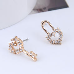 Heart Shaped Alloy Rhinestones Women's Earrings