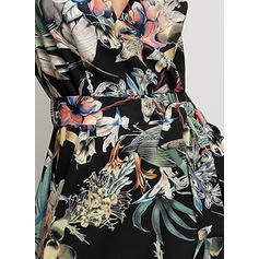 Print/Floral Sleeveless A-line Casual/Party/Boho/Vacation Midi Dresses