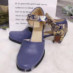 Women's PU Chunky Heel Pumps shoes